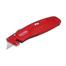 Nůž s kovovou výstuhou s výměnným břitem, 4ks náhradních břitů, EXTOL PREMIUM