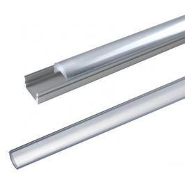 AL profil AL60 pro LED pásky, k přisazení, s vypouklým plexi, 1m