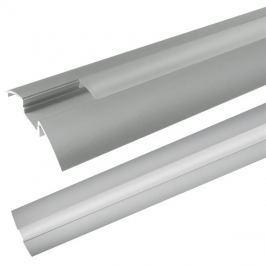 AL profil AR6 pro LED pásky, k přisazení, s plexi, 1m