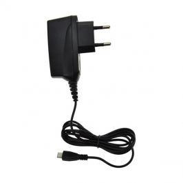 USB nabíjecí adaptér, kabel microUSB, 1000mA, AC 230V, černý DC38 SOLIGHT