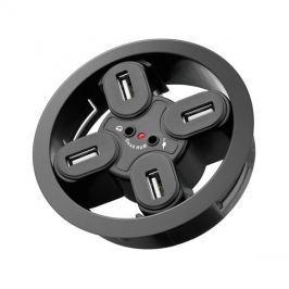 Redukce USB hub 4 porty, 2 x audio jack 3,5mm k zapuštění do desky pracovního stolu