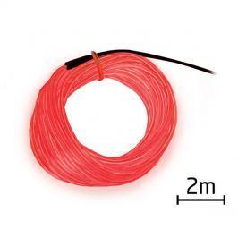 Kabel EL svítící 2m červený