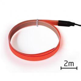 Pásek EL svítící 2m červený