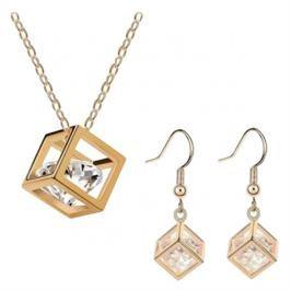 Šperk Set Cubic Zirkon, zlatá barva