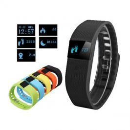 Fitness náramek FT64, OLED, Bluetooth 4.0, Android+iOS černá