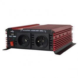 Měnič napětí 12V/230V 1000W CZ + USB  CARSPA