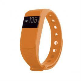 Fitness náramek s měřením tepu FT64S OLED, Bluetooth 4.0, Android+iOS oranžová