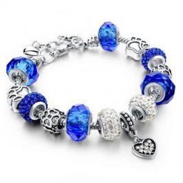 Šperk náramek Eternal - Stříbrná/Modrá