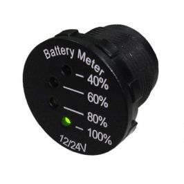 Panelové měřidlo DV34541 indikátor baterie 12-24V