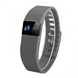 Fitness náramek FT64, OLED, Bluetooth 4.0, Android+iOS tmavě šedá