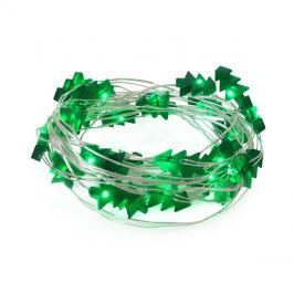Řetěz vánoční 30 LED, 3m, 3xAA, stromečky, zelená
