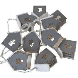 Řetěz vánoční  2m, 2xAA, chaloupky se sněhem, RETLUX RXL 167