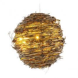 Vánoční dekorace KOULE 20 LED RXL 140, z vinné révy, 3xAA