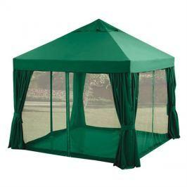 Pavilón zahradní 3 x 3 m, zelený, bočnice, moskytiéry