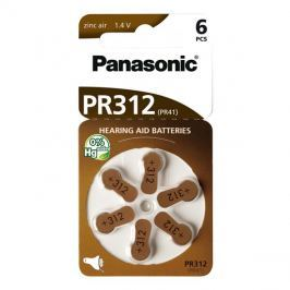Baterie  PANASONIC AZ312/V312/PR312 do naslouchadel 6BL zinkovzdušné