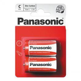 Baterie R14 (C) Red  zinkouhlíková, PANASONIC 2BP