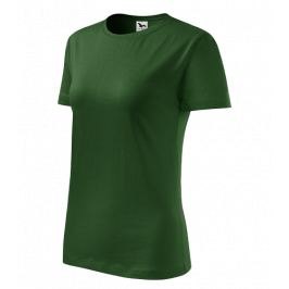 Tričko dámské barevné CLASSIC NEW S lahvově zelená