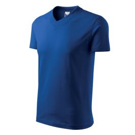 Tričko unisex V-NECK XXL královská modrá