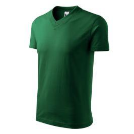 Tričko unisex V-NECK L lahvově zelená