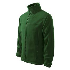 Fleecová mikina JACKET M lahvově zelená