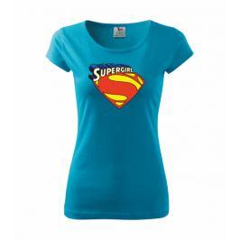 Tričko dámské Supergirl M tyrkysová