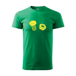 Tričko Šroub a matice XXXL středně zelená