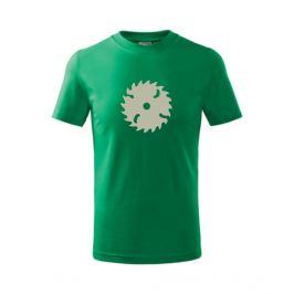 Dětské tričko Pila středně zelená 146
