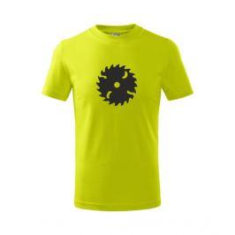 Dětské tričko Pila limetková 134