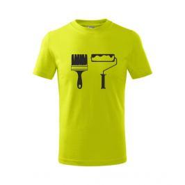 dětské tričko Štětec a váleček limetková 134
