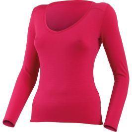 Lasting  EVA 4747 růžové merino triko s výstřihem Velikost: L