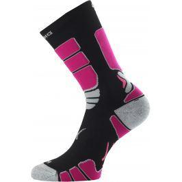 Lasting ILR 904 černá Středně dlouhá inlinová ponožka Velikost: (46-49) XL