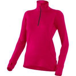 Lasting EMILY 4747 růžová vlněná Merino mikina Velikost: XS