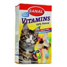 Sanal kočka Vitamins kalcium s vitamíny 60g/100tbl