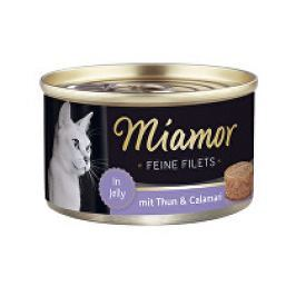 Miamor Cat Filet konzerva tuňák+kalamáry100g