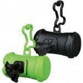 Pouzdro plast +sáčky na psí exkrementy KOST černá TR