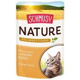 Schmusy Cat Nature Flakes kapsa kuře+rýže+šťáva 100g
