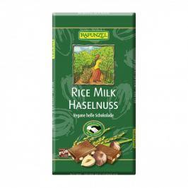 BIO Čokoláda rýžová s kousky oříšků 100g Rapunzel
