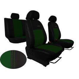 Autopotahy Škoda Rapid, kožené s alcantarou EXCLUSIVE zelené, zadní opěradlo dělené SIXTOL