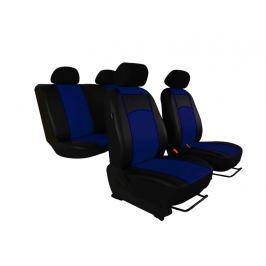 Autopotahy Škoda Rapid, kožené Tuning, se zadní loketní opěrkou, modré SIXTOL