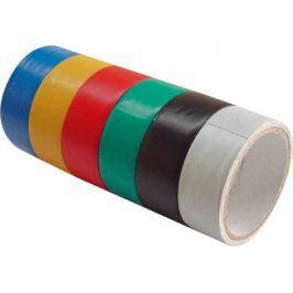 Pásky izolační PVC, sada 6ks, 19mm x 18m (3m x 6ks), tloušťka 0,13mm, 6 barev, EXTOL CRAFT