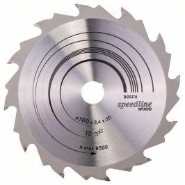 Pilový kotouč Speedline Wood - 160 x 20 x 2,4 mm, 12 - 3165140239974 BOSCH