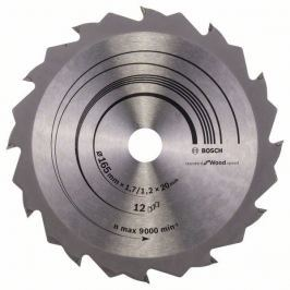 Pilový kotouč Speedline Wood - 165 x 20/16 x 1,7 mm, 12 - 3165140660259 BOSCH