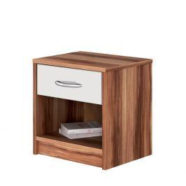 Noční stolek 4621 ořech/bílá Nábytek do interiéru