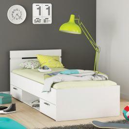 Multifunkční postel 90x200 MICHIGAN perleťově bílá