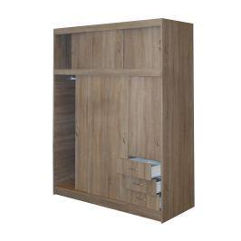Skříň s posuvnými dveřmi 53000 dub Skříně a skříňky