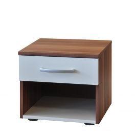 Noční stolek 60140 ořech/bílá Nábytek do interiéru