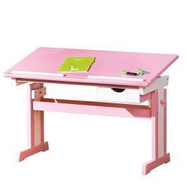 CECILIA psací stůl růžovo/bílý
