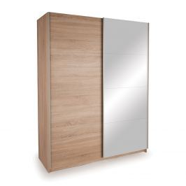 Skříň s posuvnými dveřmi DECOR 150 dub/zrcadlo Skříně