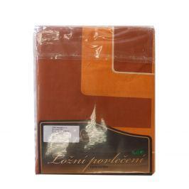 Povlečení bavlna oranžová/cihlová