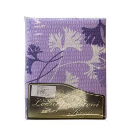 Povlečení krep fialovobílé listy